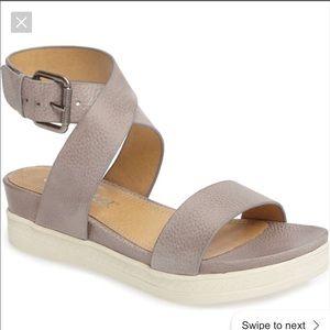 Splendid Gray Platform Sandal